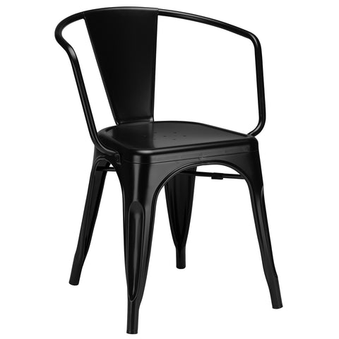 Trattoria Arm Chair in Black (Set of 2) EM-113-X2