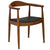 Kennedy Arm Chair in Walnut EM-115 - YourBarStoolStore + Chairs, Tables and Outdoor  - 2