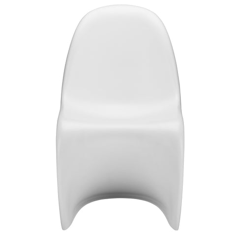 S Chair in White (Set of 2) EM-117-X2