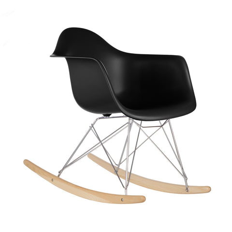 Rocker Lounge Chair in Black EM-121