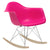 Rocker Lounge Chair in Fuchsia EM-121 - YourBarStoolStore + Chairs, Tables and Outdoor  - 2