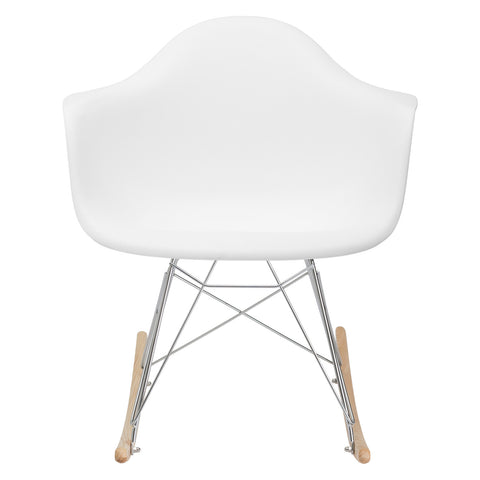 Rocker Lounge Chair in White EM-121