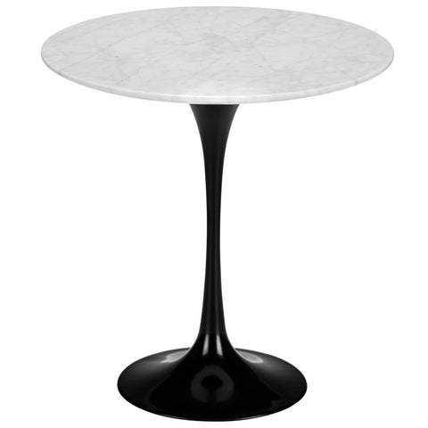 "Daisy 20"" Marble Side Table in Black Base EM-142"