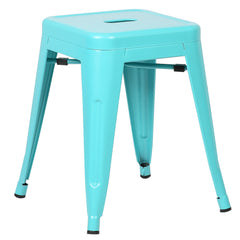 "Trattoria 18"" Stool - Aqua - YourBarStoolStore + Chairs, Tables and Outdoor  - 1"