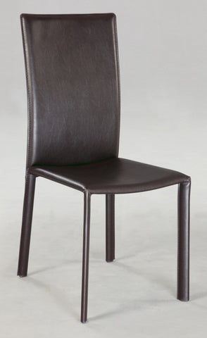 Chintaly Modern Cut Back Side Chair - Completely Set Up Brown Pvc FLAIR-SC