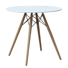 "Modern WoodLeg Dining Table 29"" Fiberglass Top, White - YourBarStoolStore + Chairs, Tables and Outdoor"