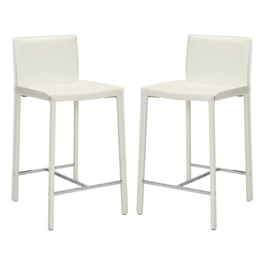 Safavieh 26 Inch Barstool White Fox2003a Set2