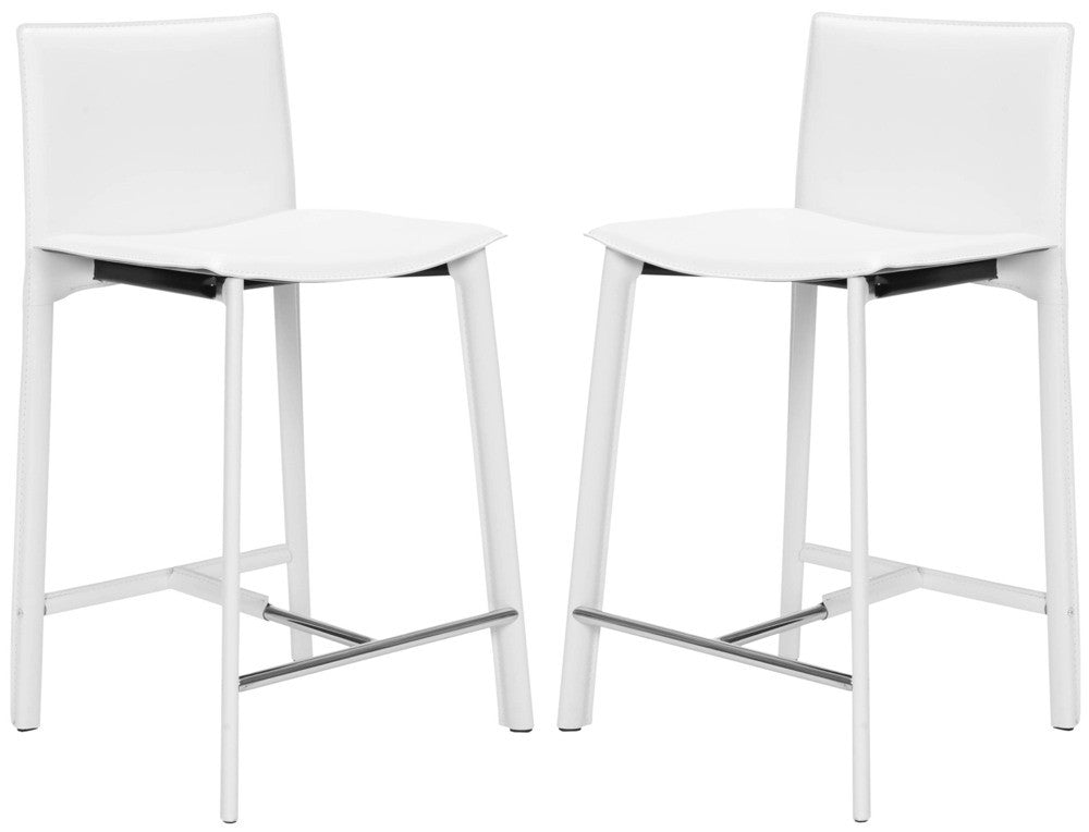 Safavieh 25 Inch Counter Stool White Fox2005a Set2