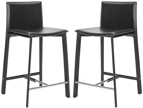 Safavieh 25 Inch Barstool Black FOX2005B-SET2