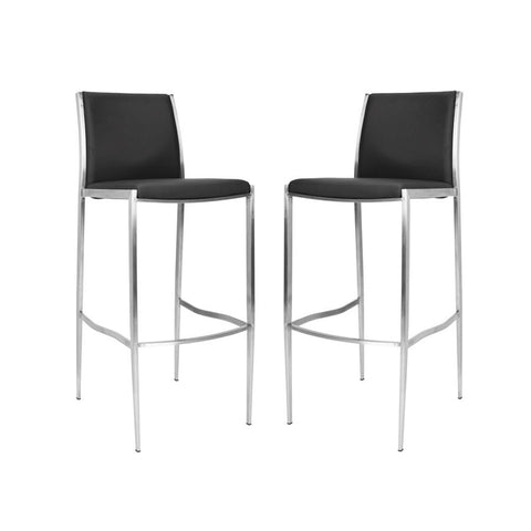 Safavieh 30 Inch Barstool Black FOX3004A-SET2