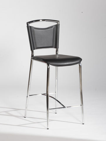 Chintaly Counter Height Stool Black Pvc GWEN-CS set of 4