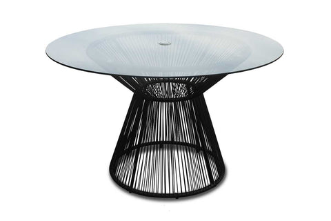 Acapulco Outdoor Dining Table - Jet Black
