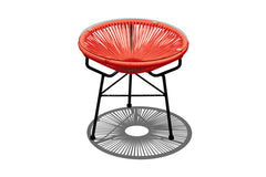 Acapulco Outdoor Side Table/Ottoman - Atomic Tangerine - YourBarStoolStore + Chairs, Tables and Outdoor  - 1