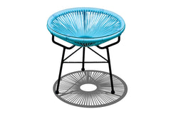 Acapulco Outdoor Side Table/Ottoman - Glacier Blue - YourBarStoolStore + Chairs, Tables and Outdoor  - 1