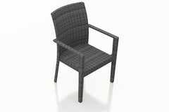 District Outdoor Dining Arm Chair - No Cushion - YourBarStoolStore + Chairs, Tables and Outdoor  - 1