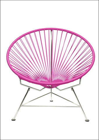 Innit Innit Chair Chrome Frame With Pink Weave