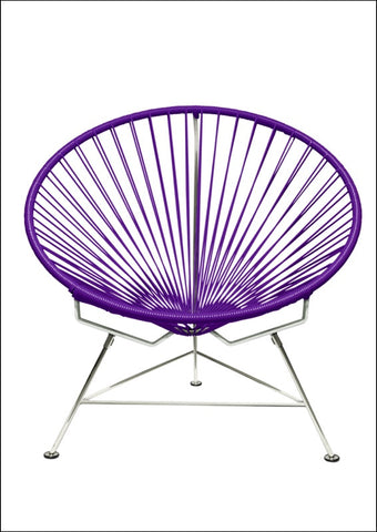 Innit Innit Chair Chrome Frame With Purple Weave