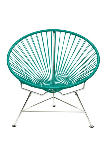 Innit Innit Chair Chrome Frame With Turquoise Weave