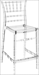 Compamia Chiavari Polycarbonate Counter Stool Transparent Clear ISP084-TCL - YourBarStoolStore + Chairs, Tables and Outdoor  - 1