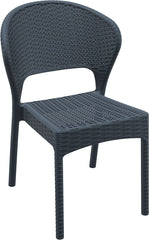 Daytona Resin Wickerlook Dining Chair Dark Gray