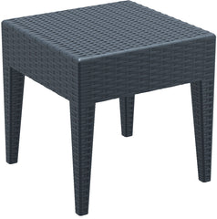 Miami Square Resin Side Table Dark Gray