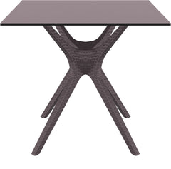 Ibiza Square Table 31 inch Brown