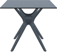 Ibiza Square Table 31 inch Dark Gray