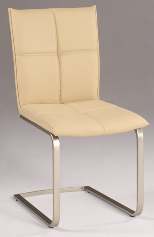 Chintaly Cantilever Upholstered Side Chair Khaki Pu JESSICA-SC