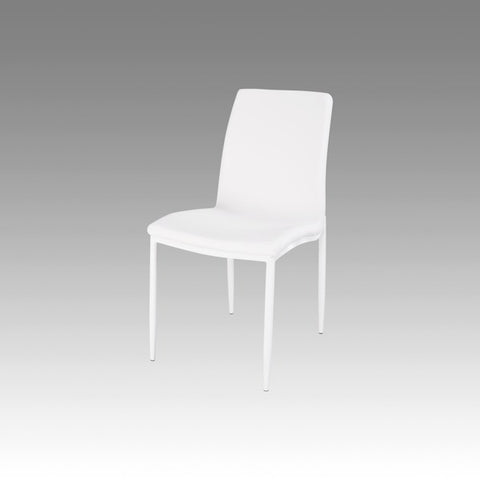 Chintaly Fully Upholstered Side Chair White Pu KELLY-SC-WHT