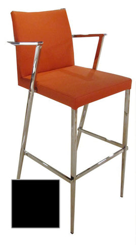 Bellini 25 Inch Barstool Black KINGSTON CS - BLK