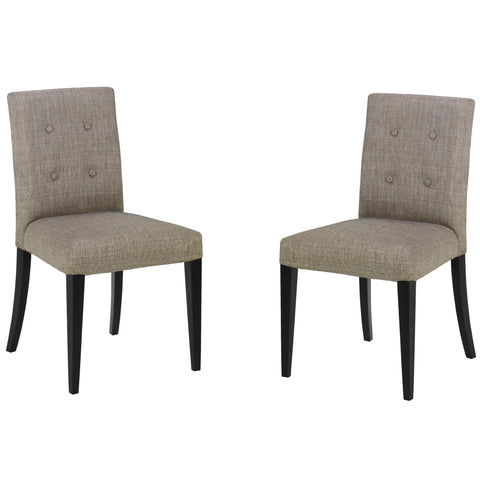 Armen Living Wall St. Gray Fabric Side Chair (Set Of 2)