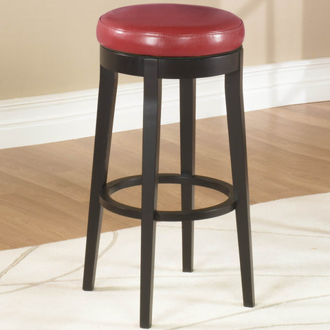 "Armen Living Mbs-450 26"" Backless Swivel Barstool in Red Bonded Leather LC450BARE26"