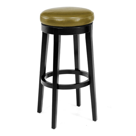 "Armen Living Mbs-450 30"" Backless Swivel Barstool in Wasabi Bonded Leather LC450BAWA30"