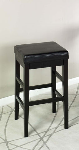 "Armen Living Sonata 26"" Stationary Barstool in Black Bonded Leather LCSTBABLBL26"