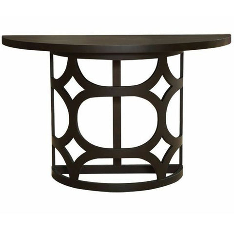 Armen Living Tuxedo Half Round Console Table