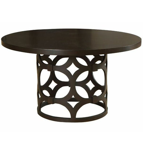 Armen Living Tuxedo Round Dining Table