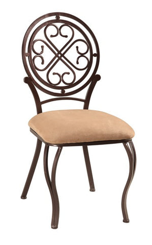 Chintaly Traditional Style Side Chair Taupe LILY-SC-TPE