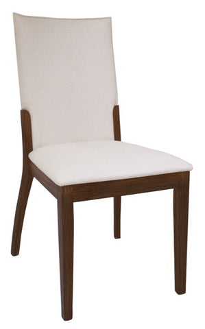 Chintaly Upholstered Back Side Chair Cream Pu LUISA-SC