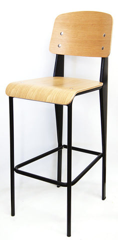 Commercial Chair Model M7770BS Black w/ natural plywood