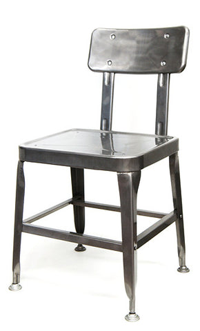 Industrial Pewter Glossy Chair