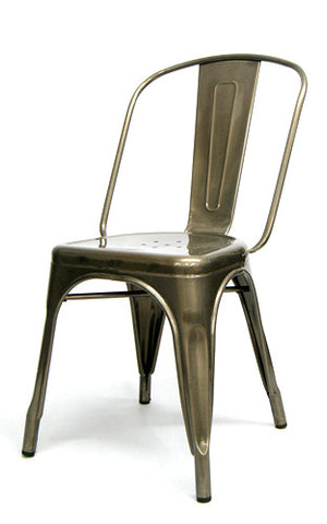 Commercial Chair Model M7781 Pewter Glossy