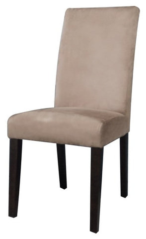 Chintaly Modern Parson Side Chair Taupe Microfiber MARIA-PRS-SC
