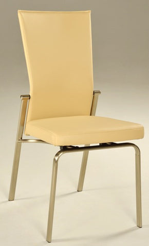 Chintaly Motion Back Side Chair Beige Pu MOLLY-SC-BGE