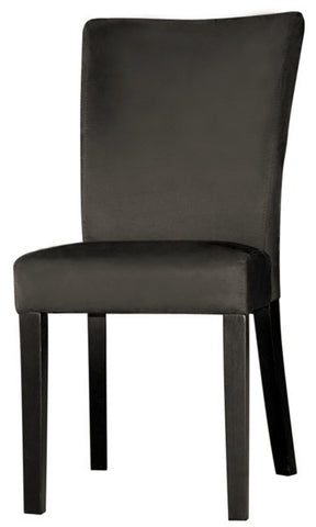 Chintaly Modern Parson Side Chair Black Microfiber MONICA-PRS-SC-BLK