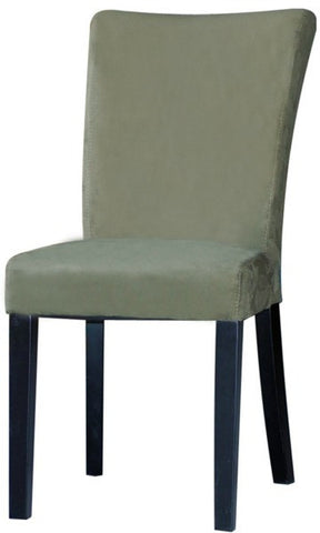 Chintaly Modern Parson Side Chair Green Microfiber MONICA-PRS-SC-GRN