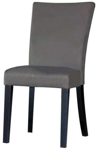 Chintaly Modern Parson Side Chair Grey Microfiber MONICA-PRS-SC-GRY