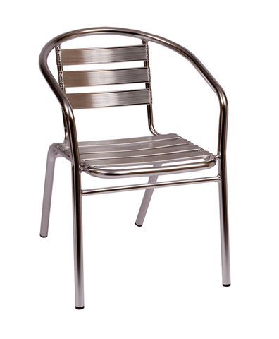 Commercial Aluminum Outdoor Arm Chair