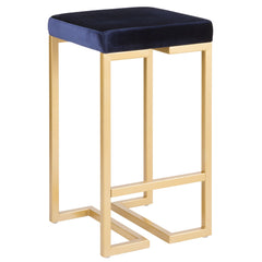 Midas Counter Stool - Gold & Blue