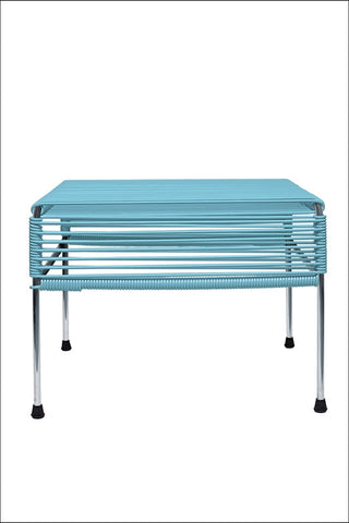 Innit Adam Ottoman Chrome Frame With Blue Weave
