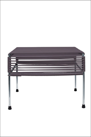 Innit Adam Ottoman Chrome Frame With Grey Weave